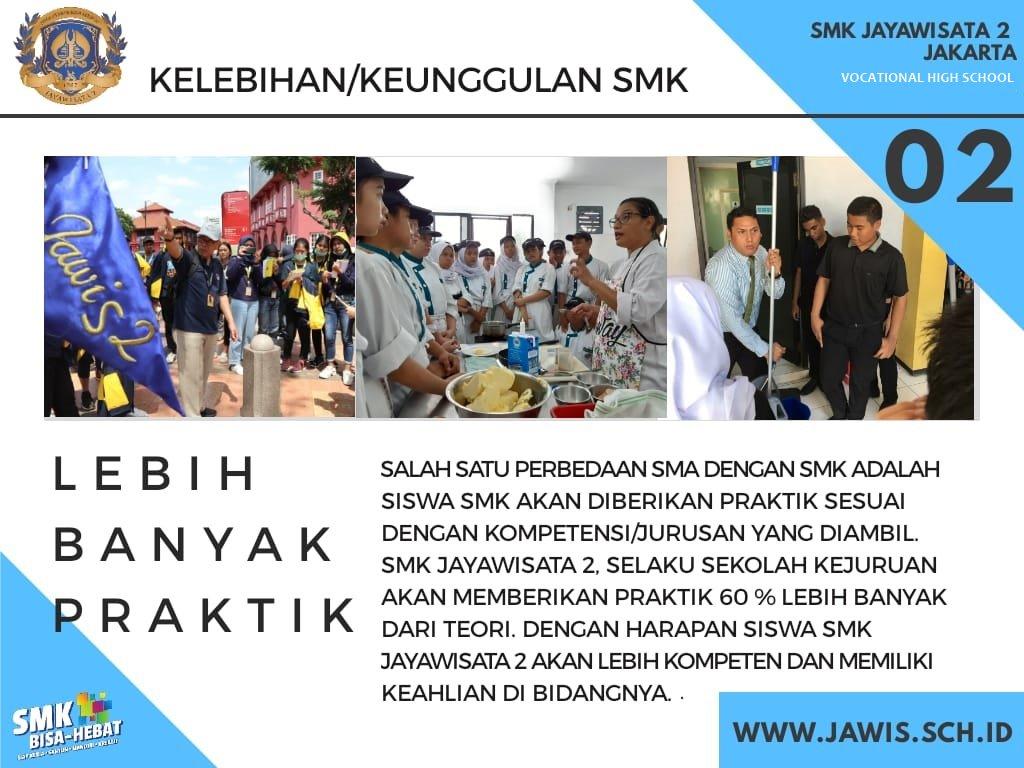 Kelebihan & Keunggulan SMK - SMK JAYAWISATA 2